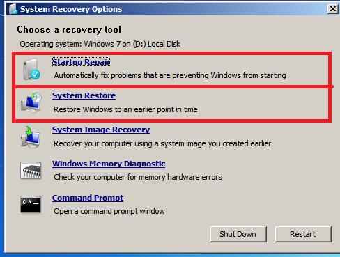 Windows startup repair problem signature bad patch