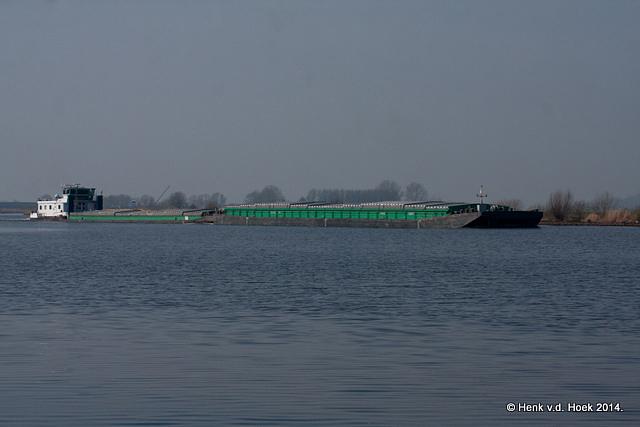 Duwboot-vrachtschip.