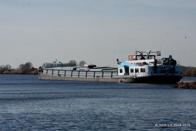 Binnenvaartschip.