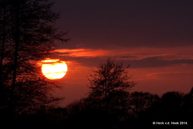 Zonsondergang drenthe 10 april 2014.