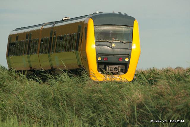 Trein van Zwolle naar Kampen.