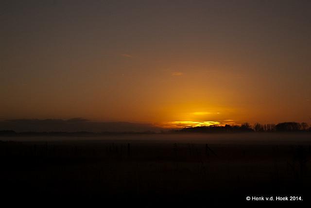 Zonsondergang - drenthe