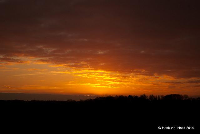 Zonsondergang thuis drenthe