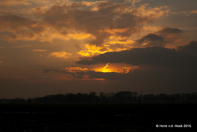 Zonsondergang thuis 30 jan. 2015
