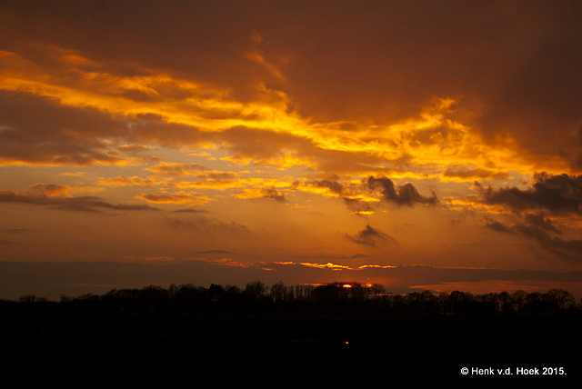 Zonsondergang 31 jan. 2015 drenthe.