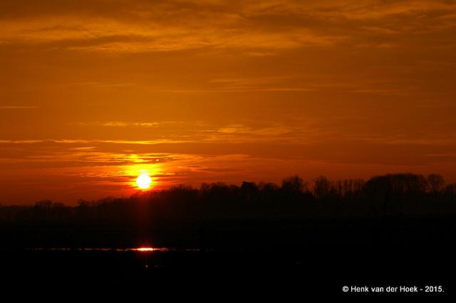 Zonsondergang Drenthe.