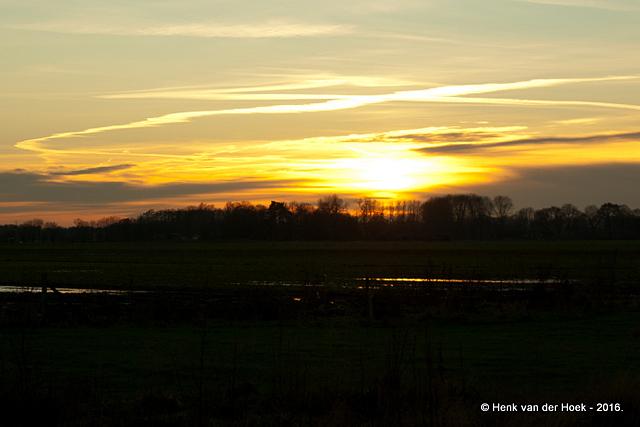 Zonsondergang - Drenthe.