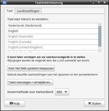 andere taal toetsenbord