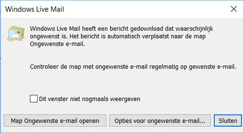 stoppen ongewenste e=mails