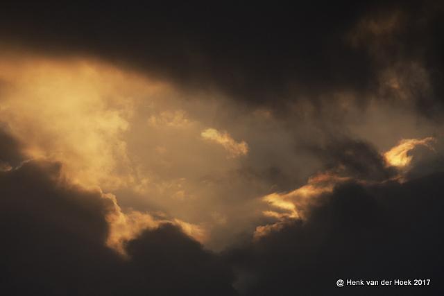 Mooie wolkenlucht in Drenthe.