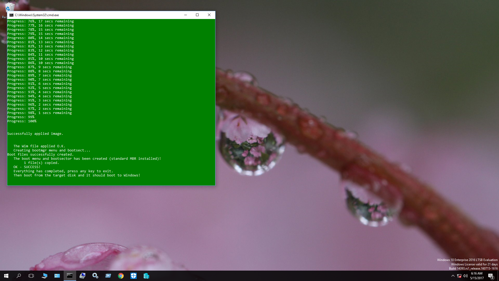 windows 10 boot EFI shell from samsung 960 EVO initialized as MBR