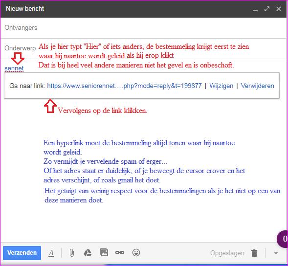 Hoe een link maken voor browser. SeniorenNet - Website ...